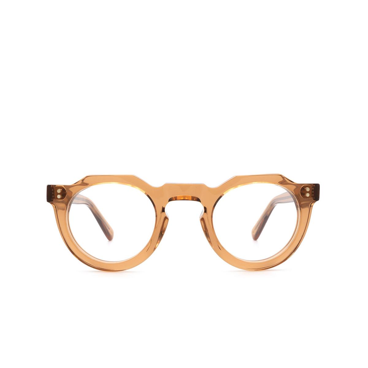 Lesca® Irregular Eyeglasses: Pica color Cognac Co - front view.