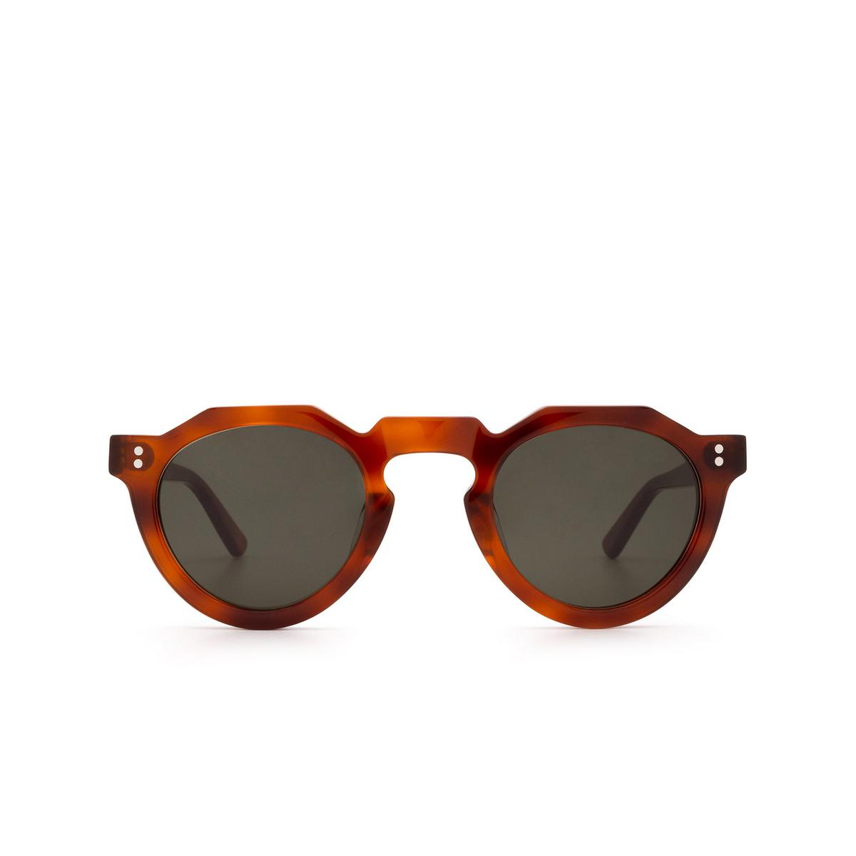 Lesca® Irregular Sunglasses: Pica Sun color Light Tortoise 53 - front view.
