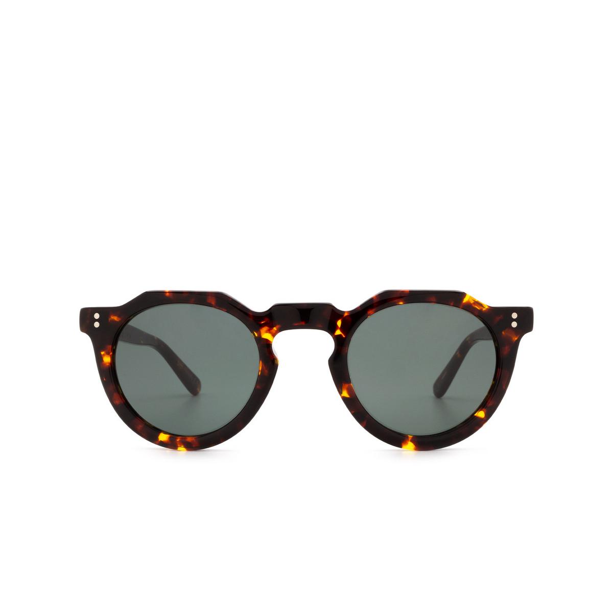 Lesca® Irregular Sunglasses: Picas color Écaille Foncé 424 - front view.