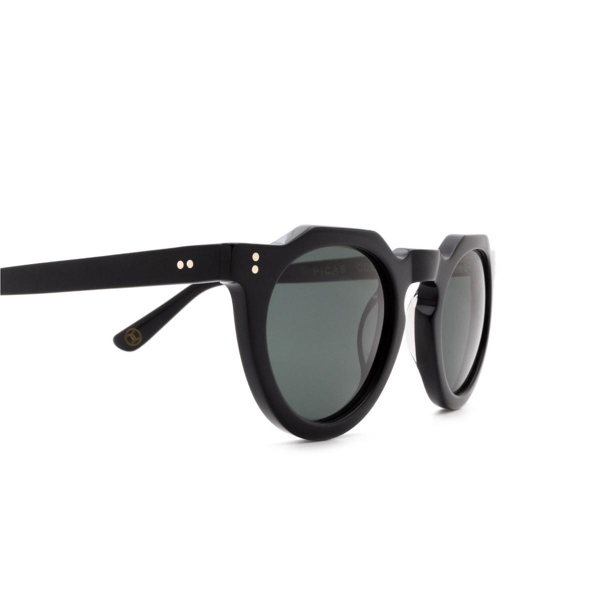 Lesca® Irregular Sunglasses: Picas color Noir 5 - 3/3.