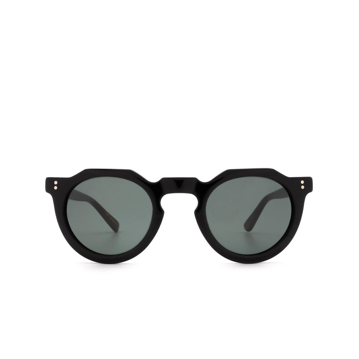 Lesca® Irregular Sunglasses: Picas color Noir 5 - front view.