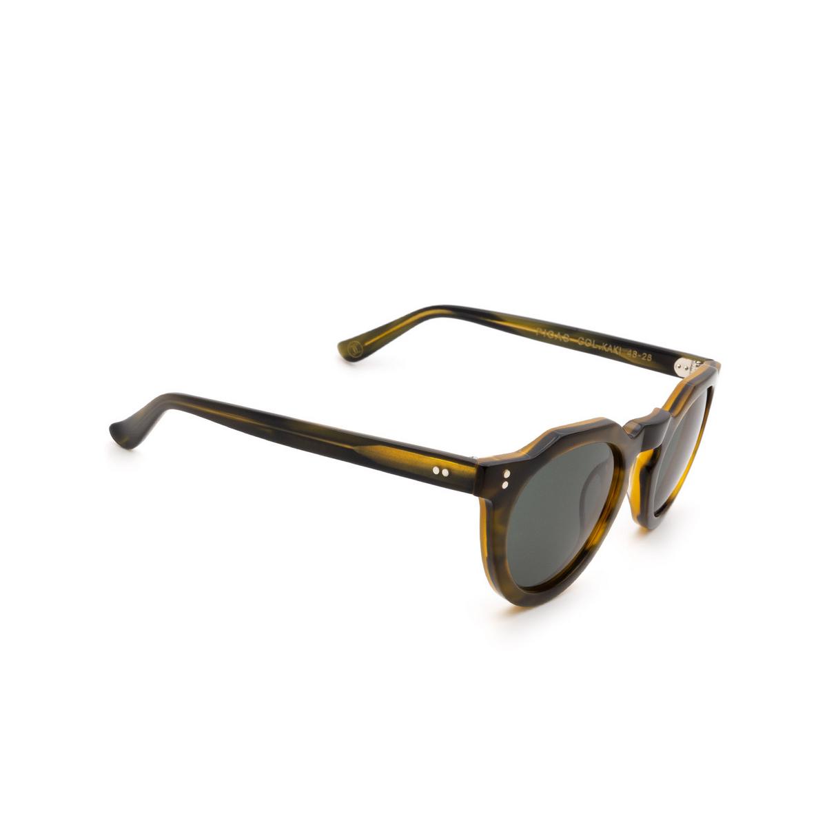 Lesca® Irregular Sunglasses: Picas color Khaki - three-quarters view.