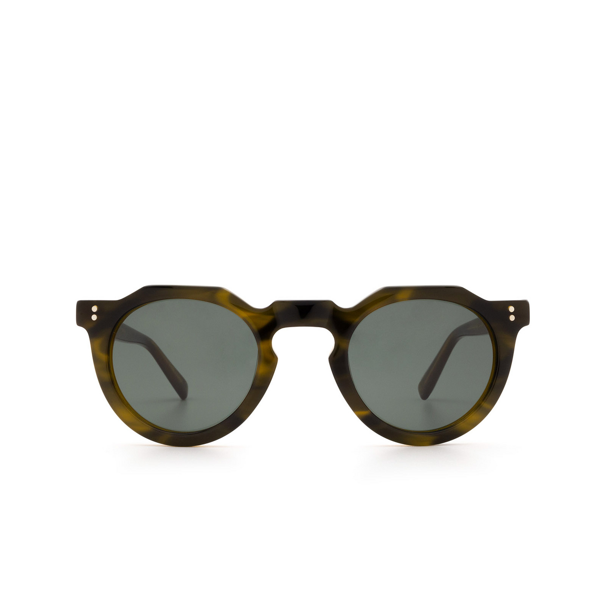 Lesca® Irregular Sunglasses: Picas color Khaki - front view.