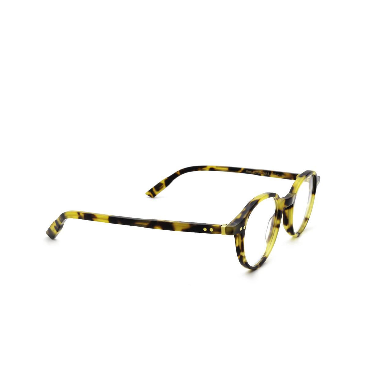 Lesca® Round Eyeglasses: Puno color Havana 4 - three-quarters view.