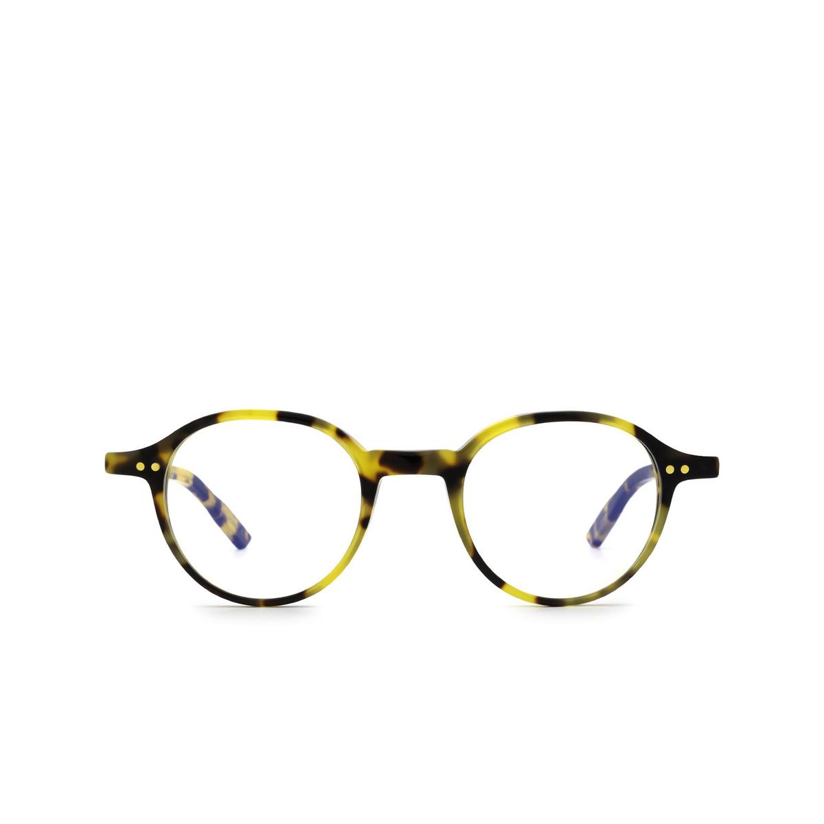 Lesca® Round Eyeglasses: Puno color Havana 4 - front view.