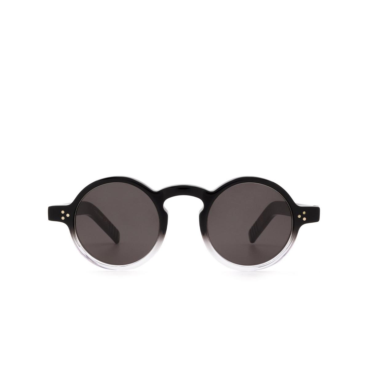 Lesca® Round Sunglasses: S.freud color Noir Degradé Deg - front view.