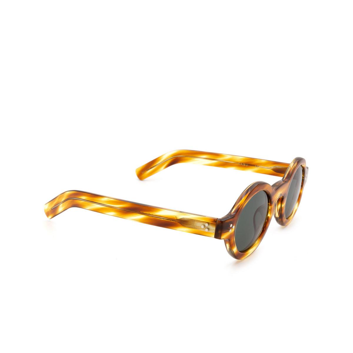 Lesca® Round Sunglasses: Tabu color Écaille Clair A8 - three-quarters view.