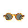 Lesca® Round Sunglasses: Tabu color Écaille Clair A8 - product thumbnail 1/3.