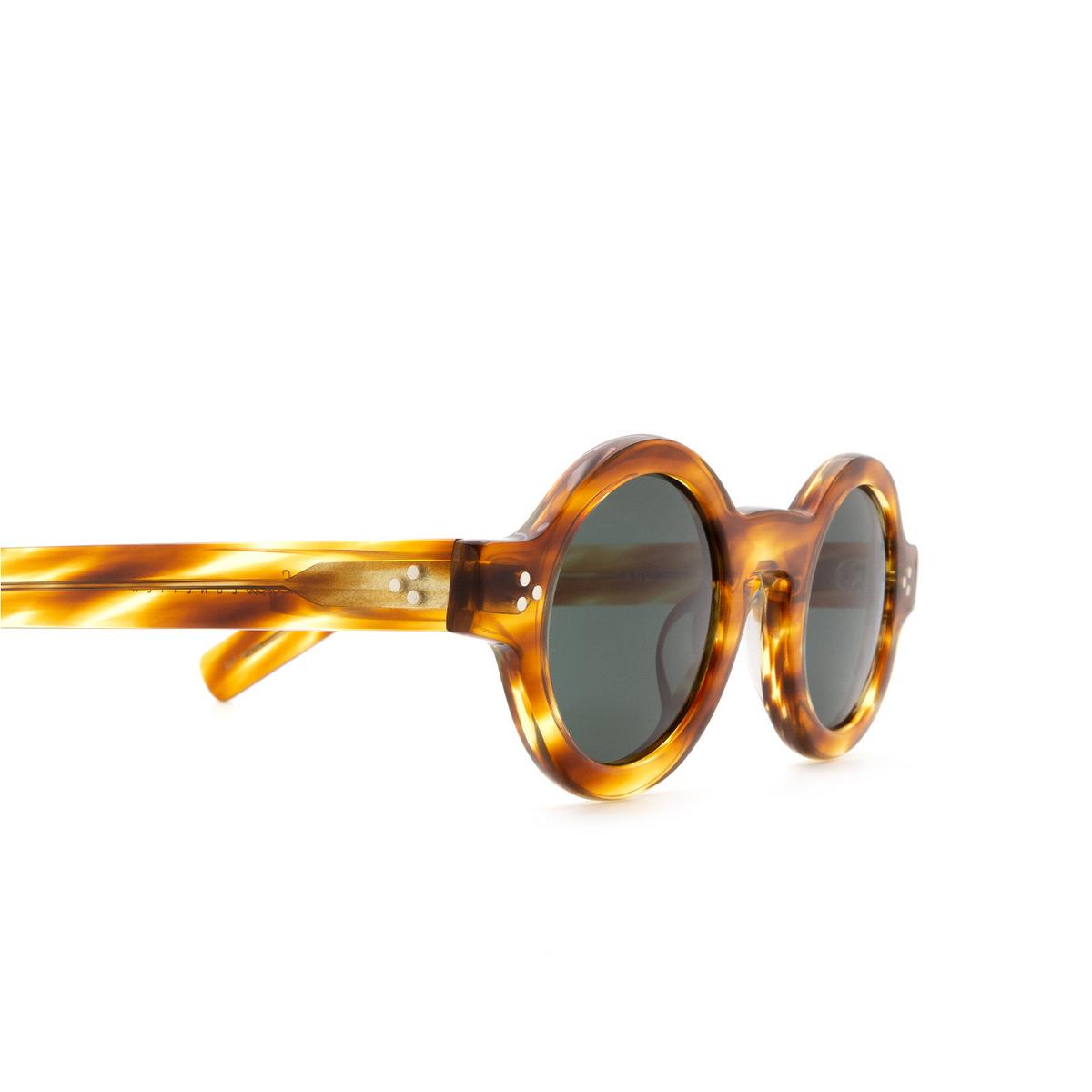 Lesca® Round Sunglasses: Tabu color Écaille Clair A8 - 3/3.