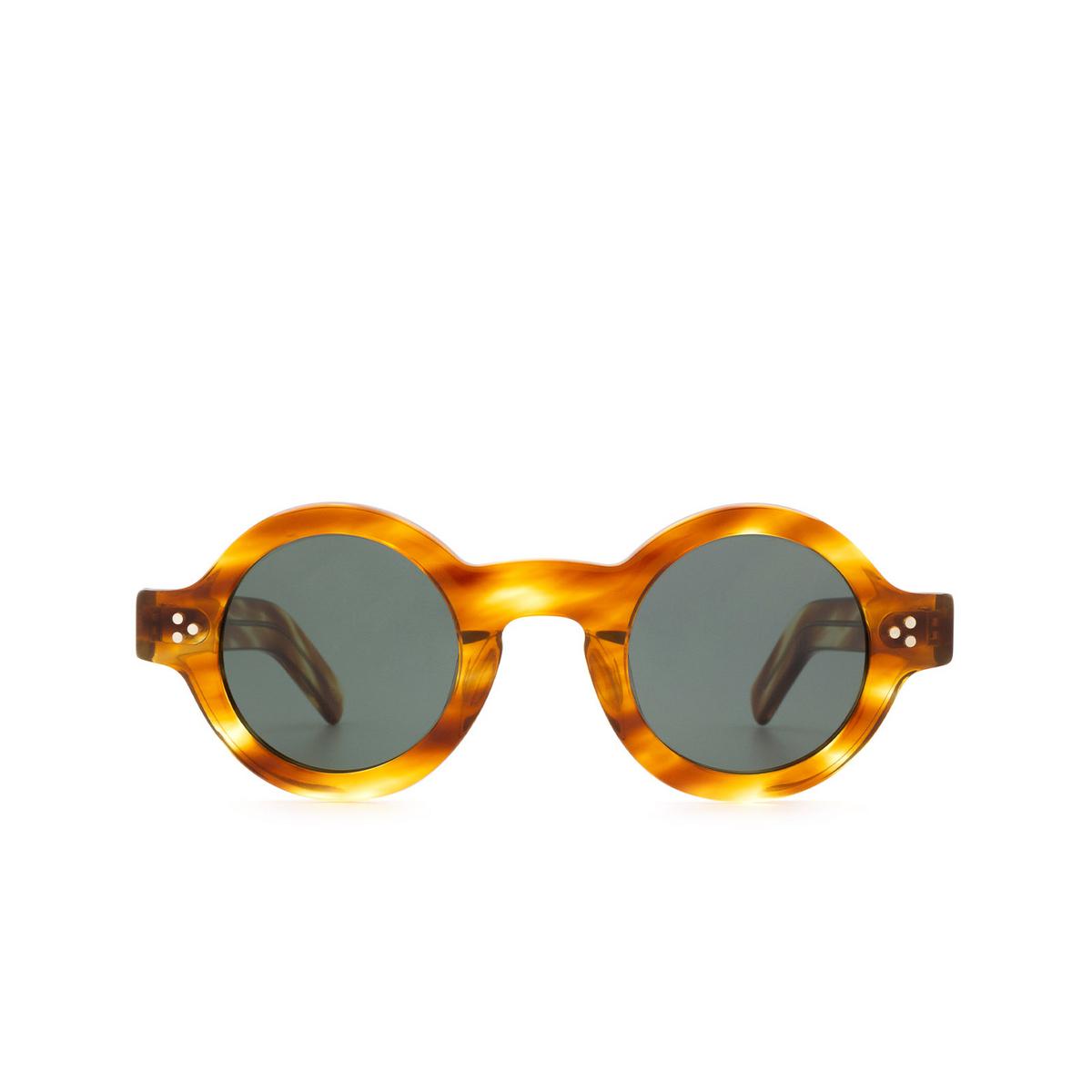 Lesca® Round Sunglasses: Tabu color Écaille Clair A8 - front view.