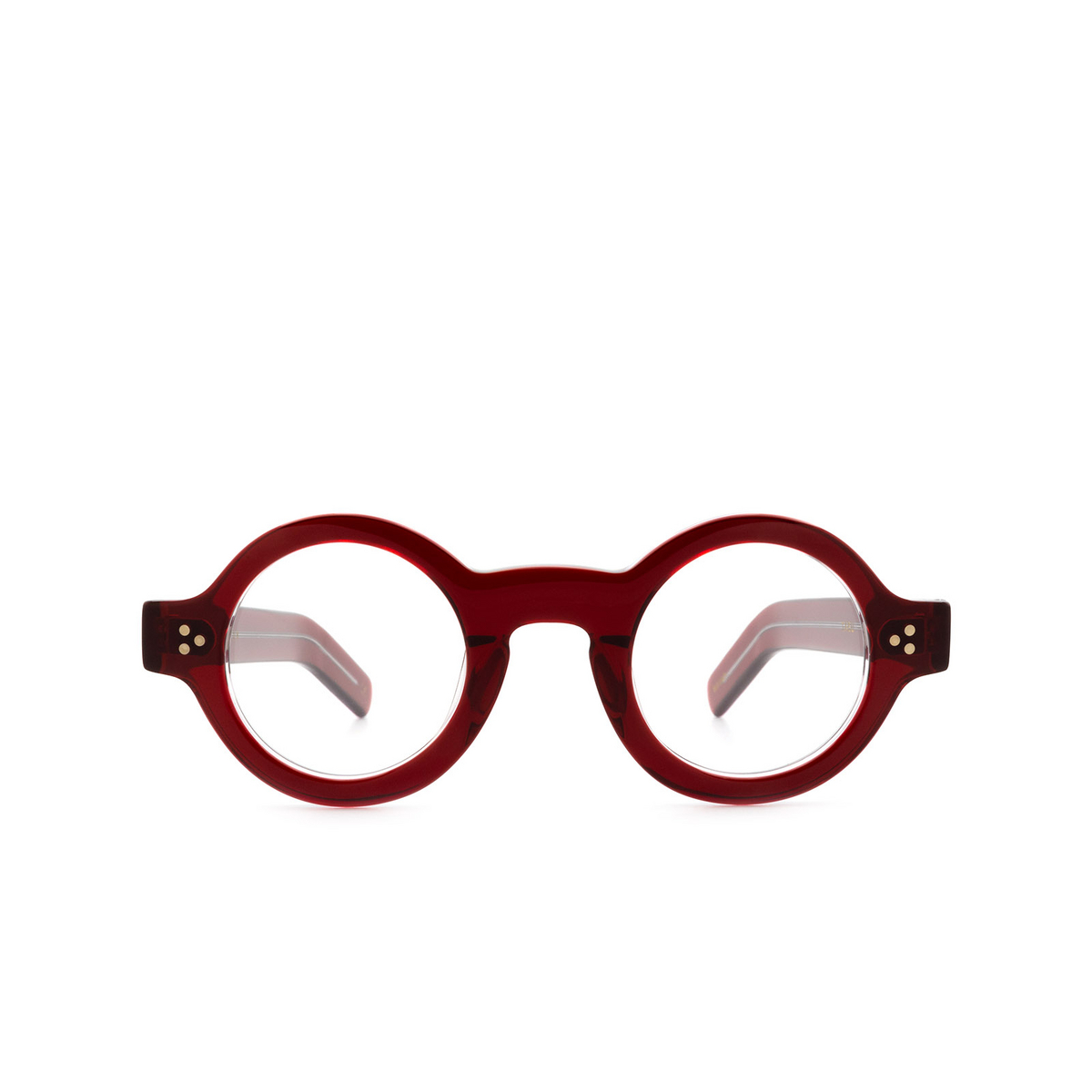 Lesca® Round Eyeglasses: Tabu Optic color Rouge A4 - front view.