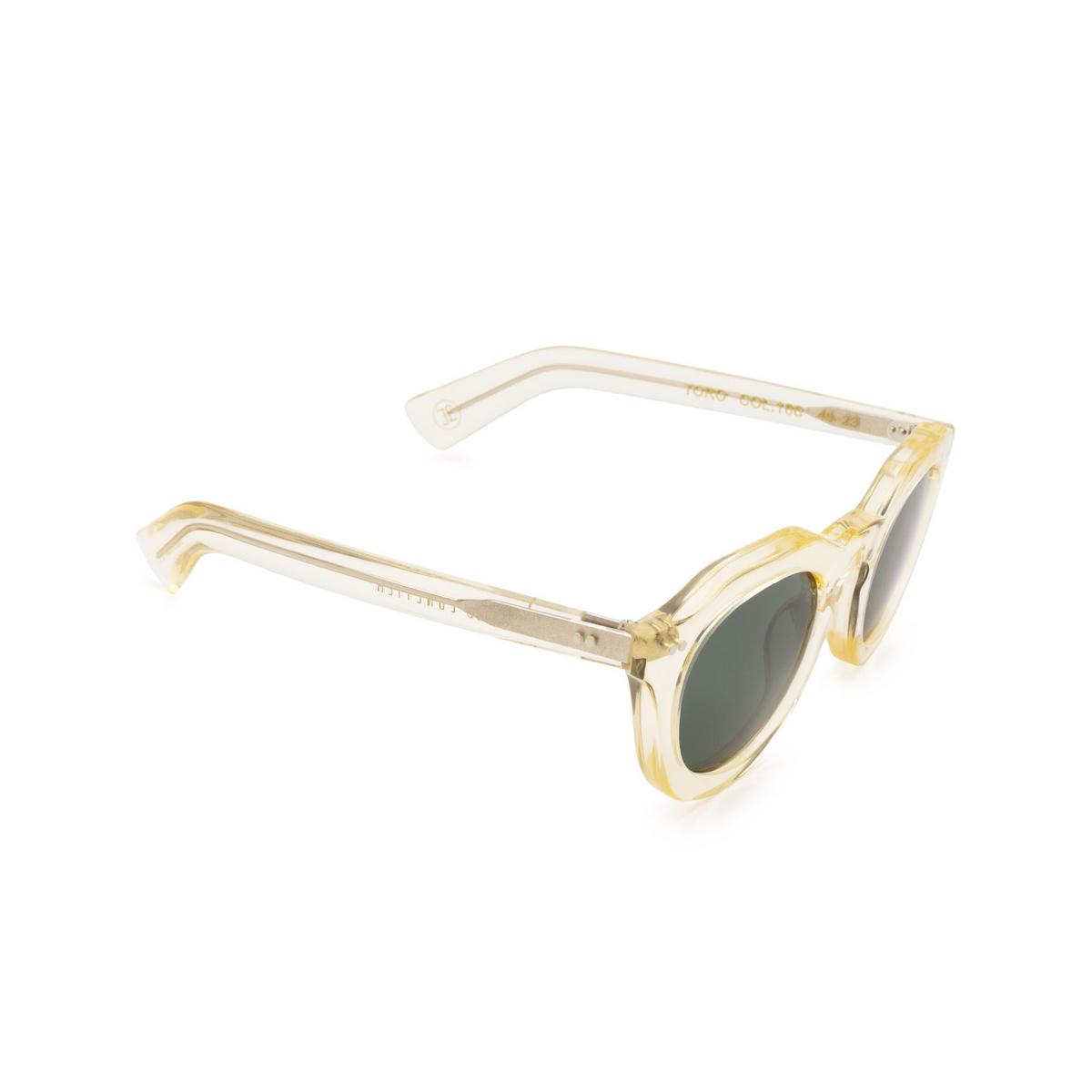 Lesca® Irregular Sunglasses: Toro color Champagne 186 - three-quarters view.