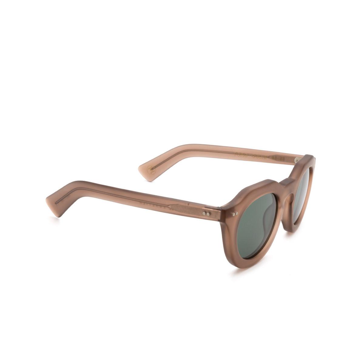 Lesca® Irregular Sunglasses: Toro color Cognac Matt 2 - three-quarters view.