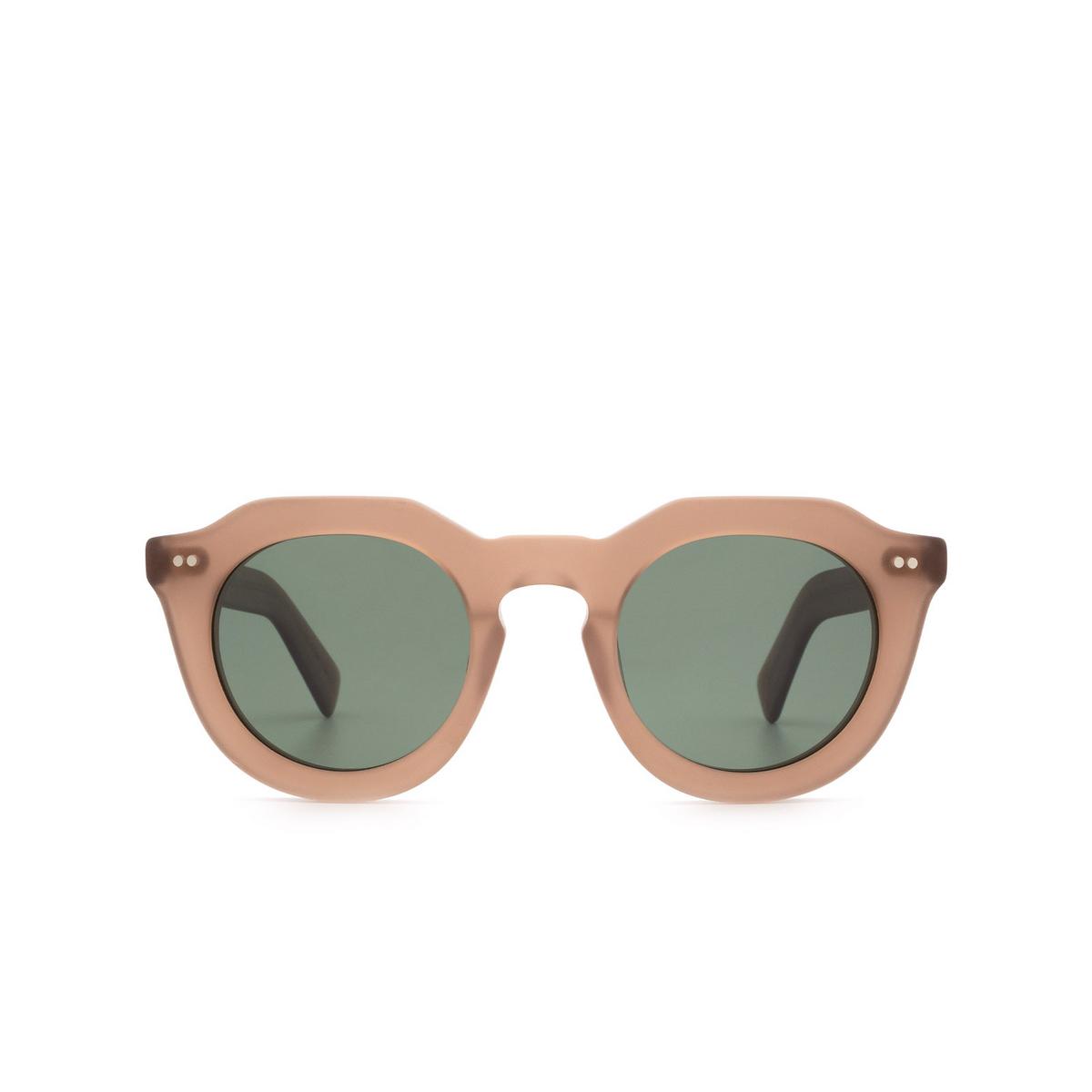 Lesca® Irregular Sunglasses: Toro color Cognac Matt 2 - front view.