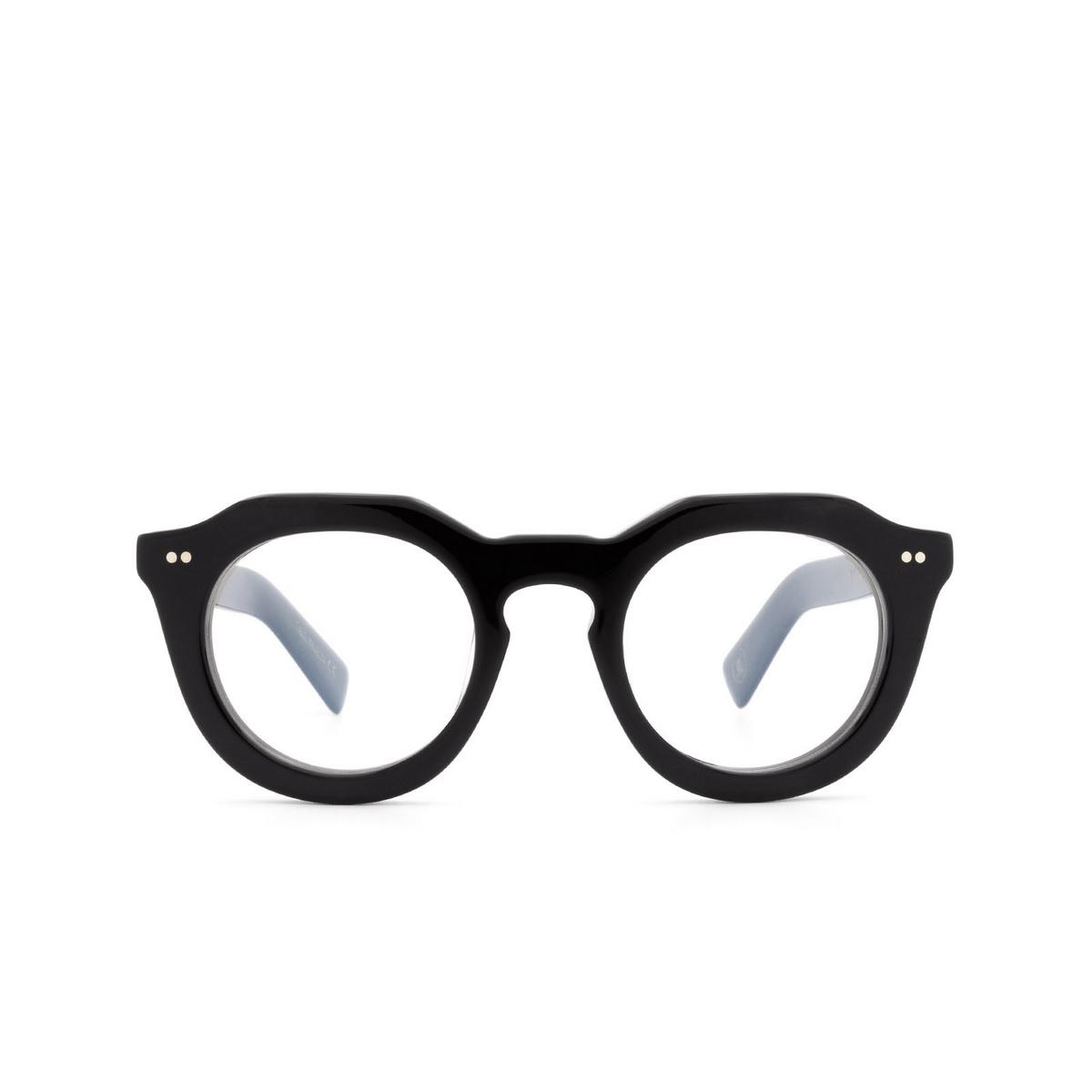 Lesca® Irregular Eyeglasses: Toro Optic color Black 5 - front view.