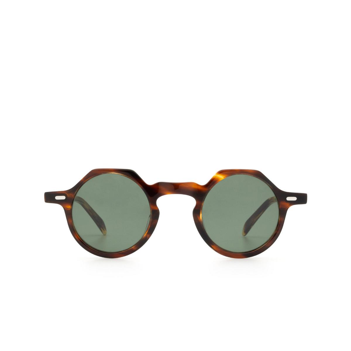 Lesca® Irregular Sunglasses: Yoga Sun color Havana 193 - front view.