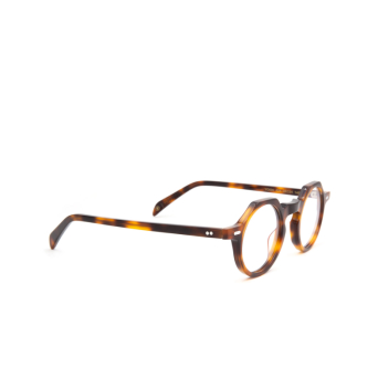 Lesca® Irregular Eyeglasses: Yoga color Havana 424.