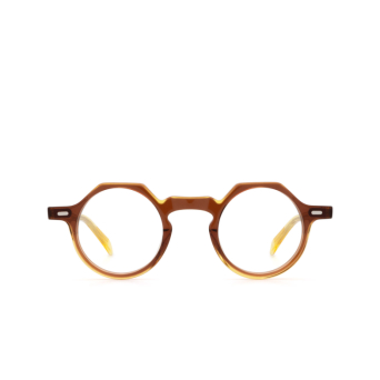 Lesca® Irregular Eyeglasses: Yoga color Cognac / Honey By.
