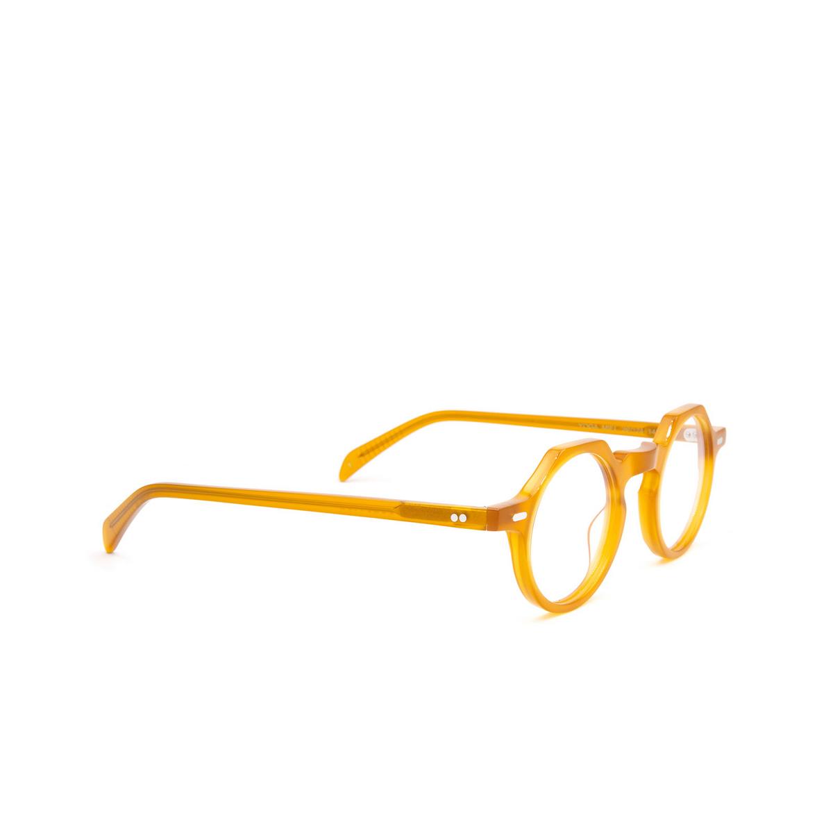 Lesca® Irregular Eyeglasses: Yoga color Honey Miel - three-quarters view.