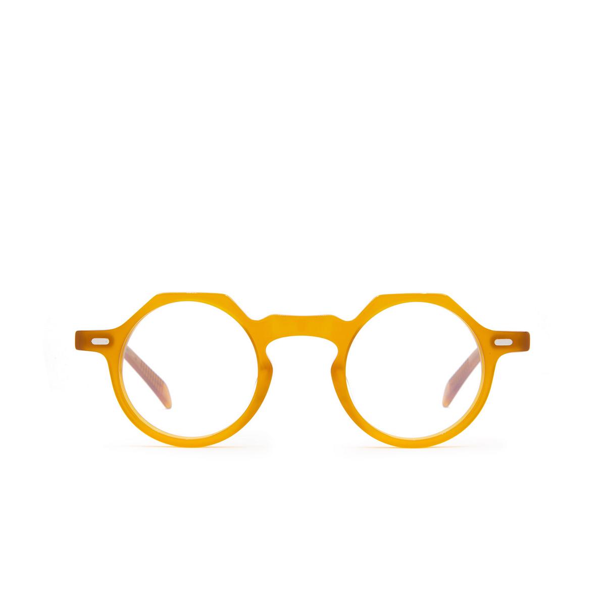 Lesca® Irregular Eyeglasses: Yoga color Honey Miel - front view.