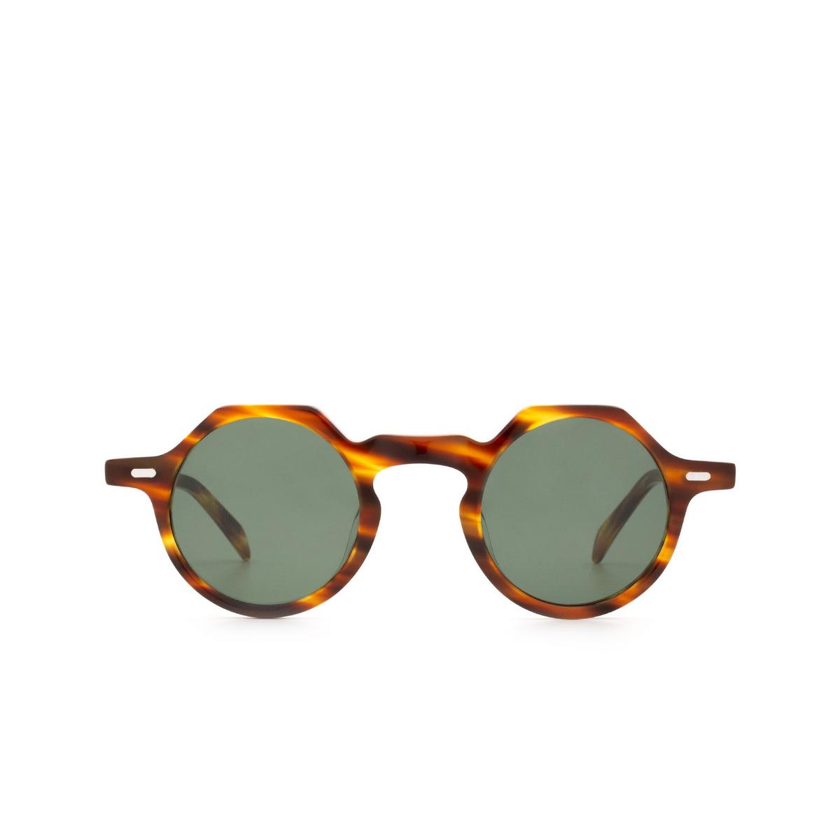 Lesca® Irregular Sunglasses: Yoga Sun color Havana 827.