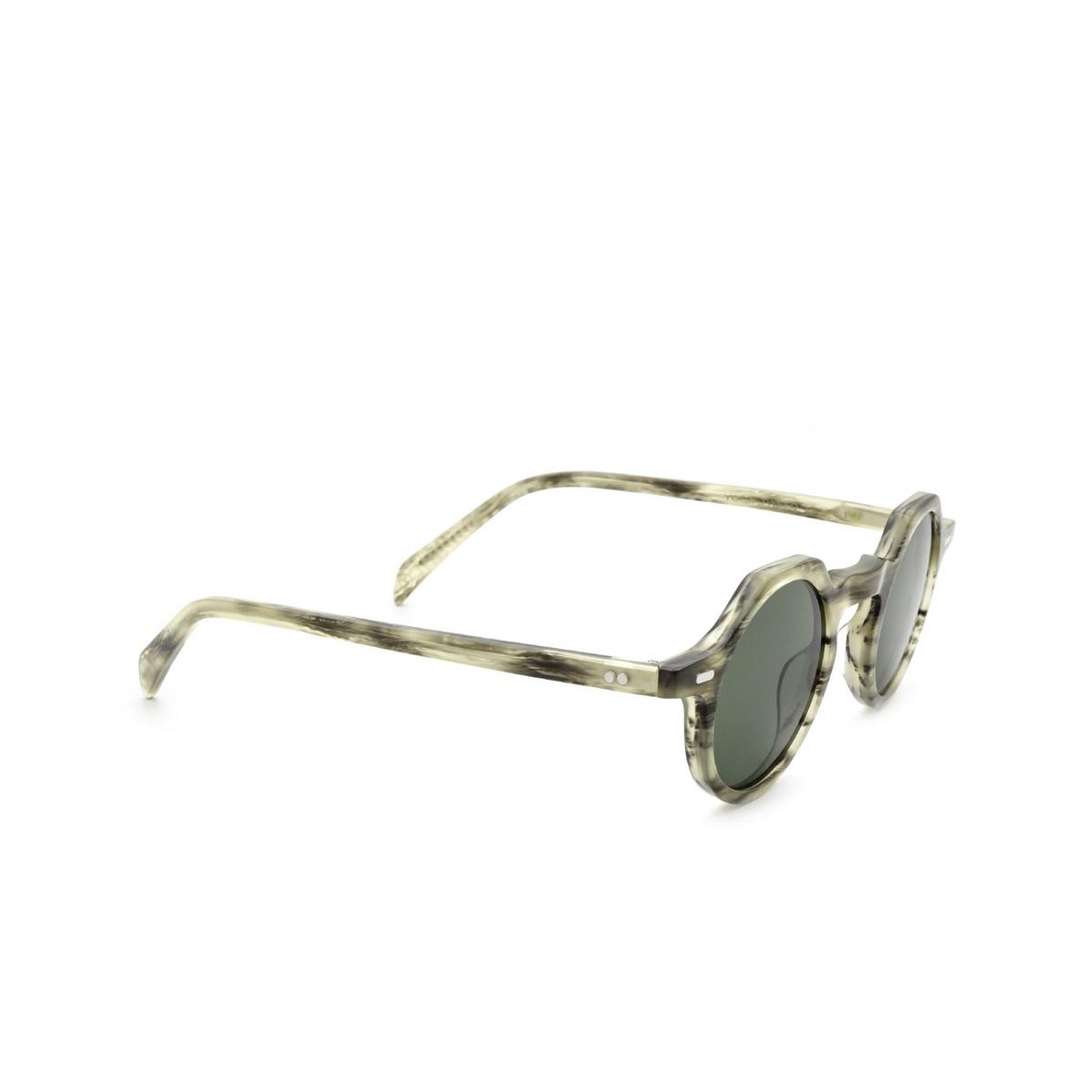 Lesca® Irregular Sunglasses: Yoga Sun color Striped Grey Tweed - three-quarters view.