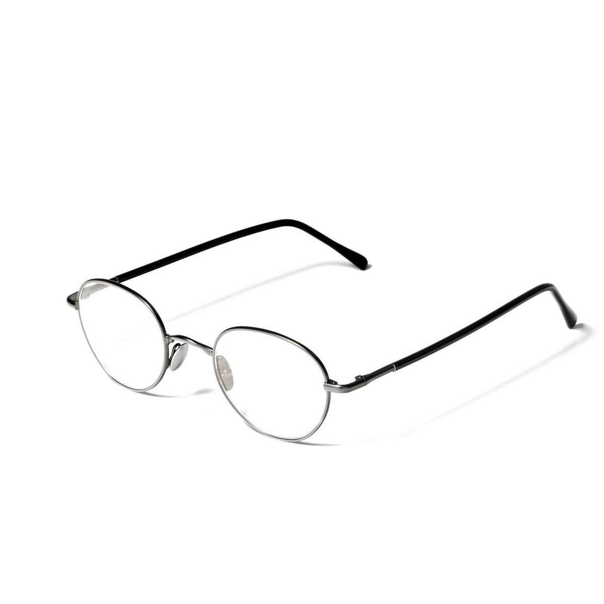 L.G.R® Oval Eyeglasses: Blixen color Grey Matt 04 - three-quarters view.