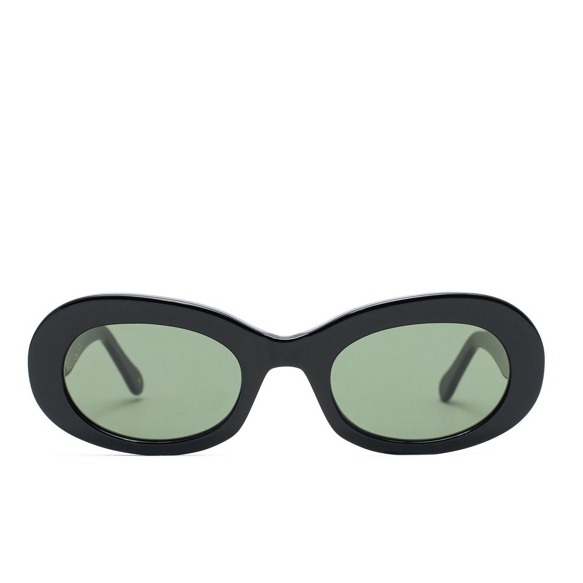 L.G.R® Oval Sunglasses: Dalia color Black 01 - front view.