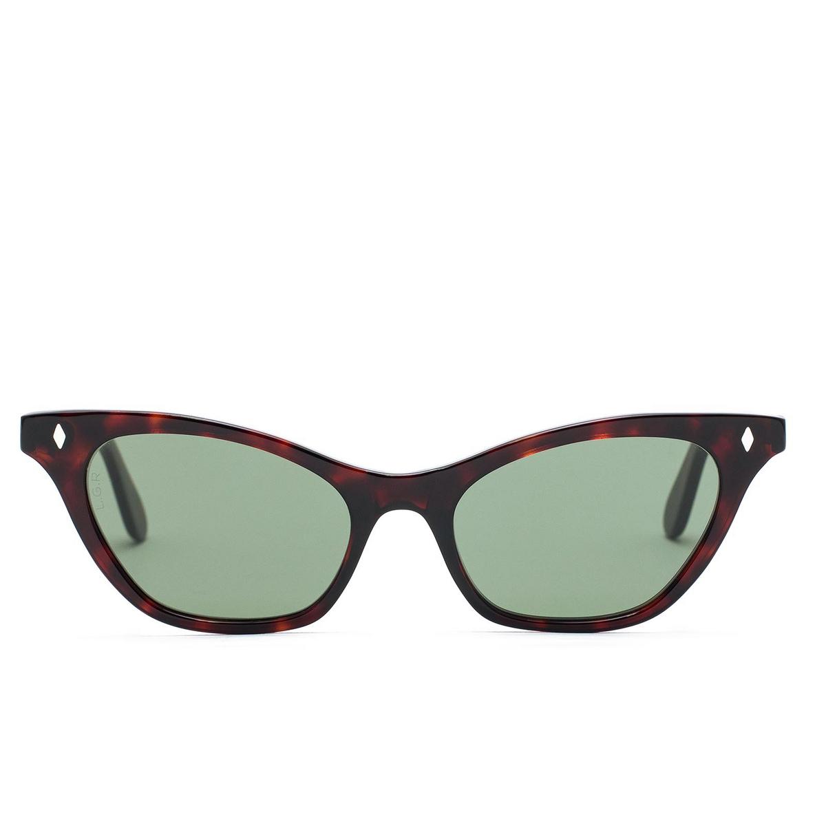 L.G.R® Cat-eye Sunglasses: Kimberly color Havana Bordeaux 65.