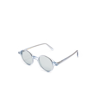 L.G.R® Round Sunglasses: Reunion color Crystal Blue 72.