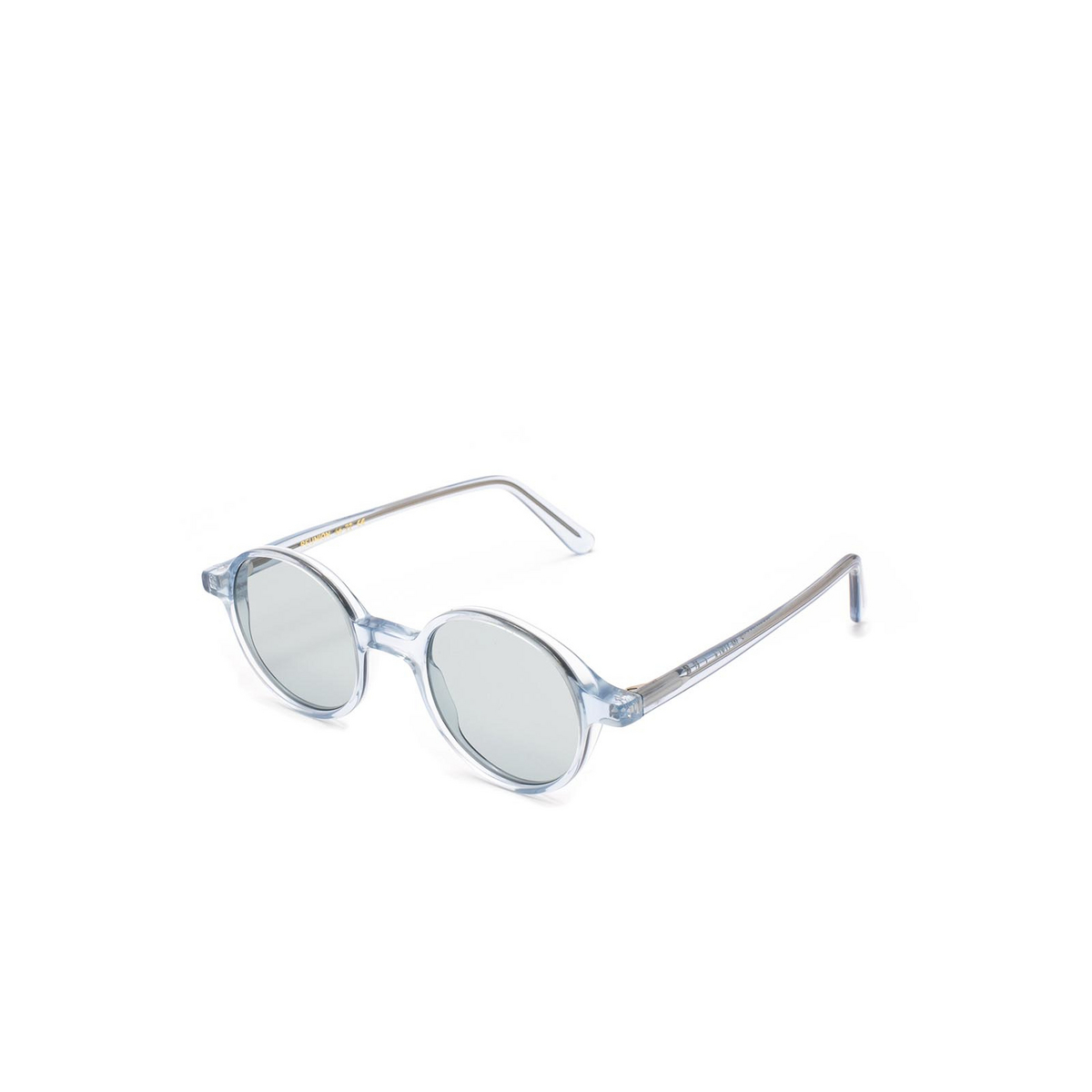 L.G.R® Round Sunglasses: Reunion color Crystal Blue 72.