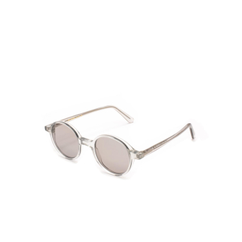 L.G.R® Round Sunglasses: Reunion color Crystal Grey 73.