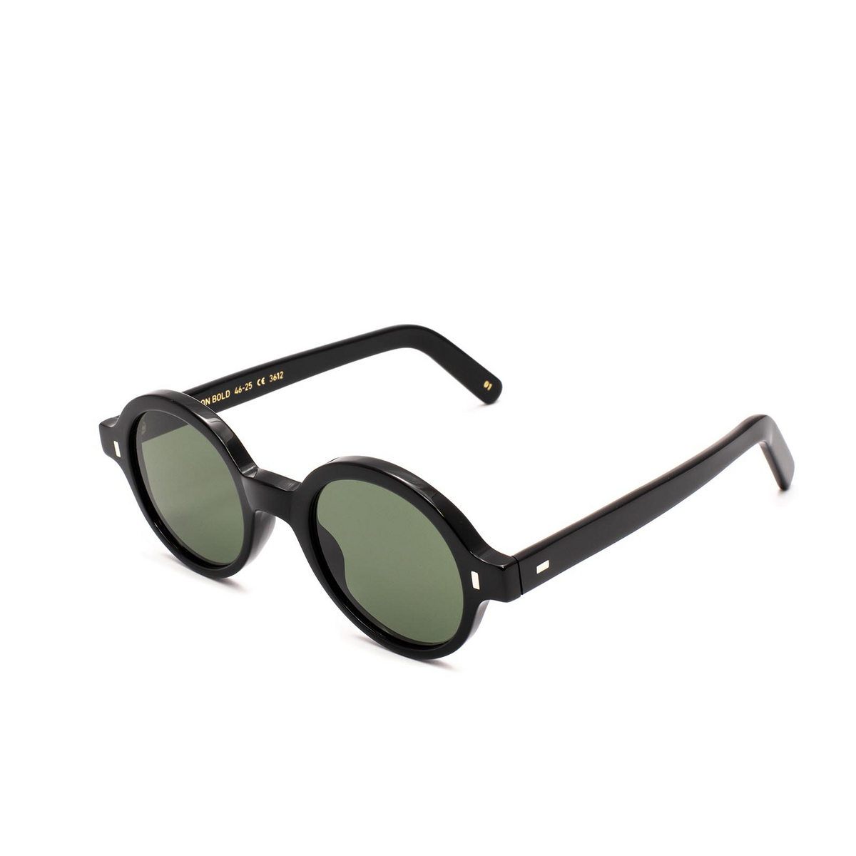 L.G.R® Round Sunglasses: Reunion Bold color Black 01.