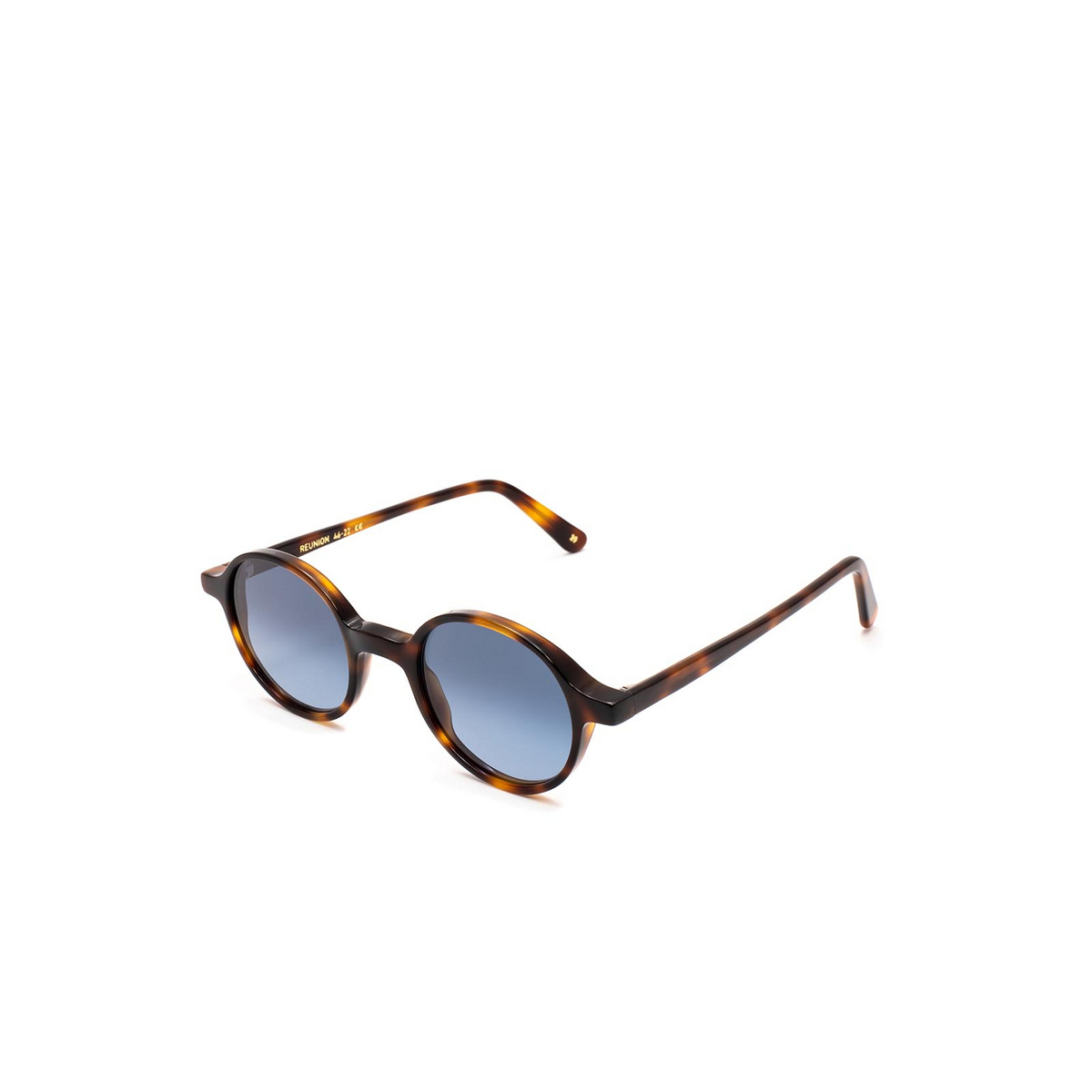 L.G.R® Round Sunglasses: Reunion Bold color Havana 39.