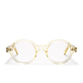 L.G.R® Round Eyeglasses: Reunion Bold Opt color Champagne 49.