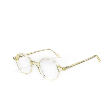 L.G.R® Round Eyeglasses: Reunion Opt color Champagne 49.