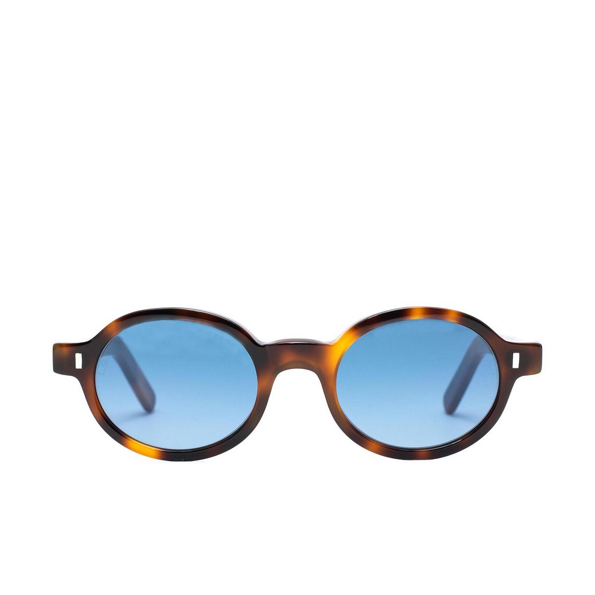 L.G.R® Oval Sunglasses: Teos Bold color Havana 39.