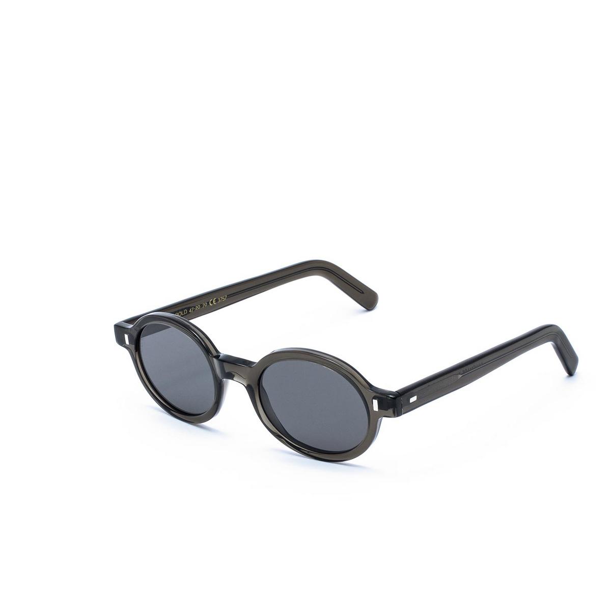 L.G.R® Oval Sunglasses: Teos Bold color Grey 70 - three-quarters view.