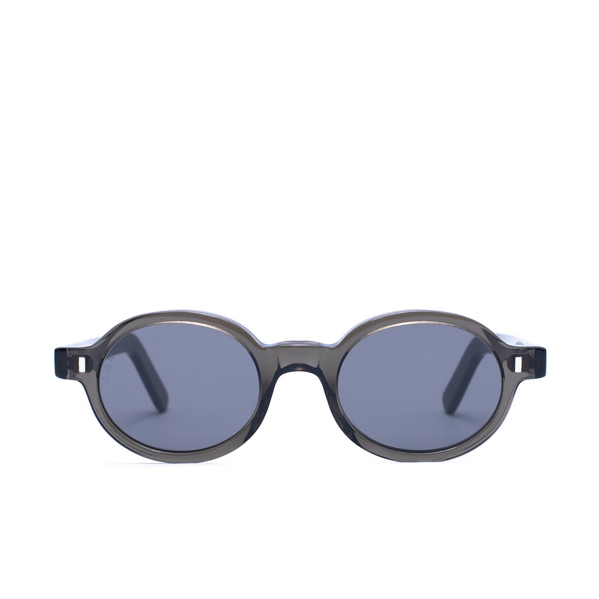 L.G.R® Oval Sunglasses: Teos Bold color Grey 70 - front view.