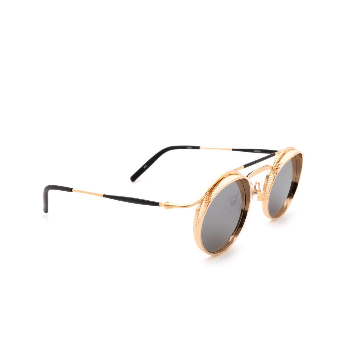 Matsuda® Round Sunglasses: 2903H color Brushed Rose Gold Brg.