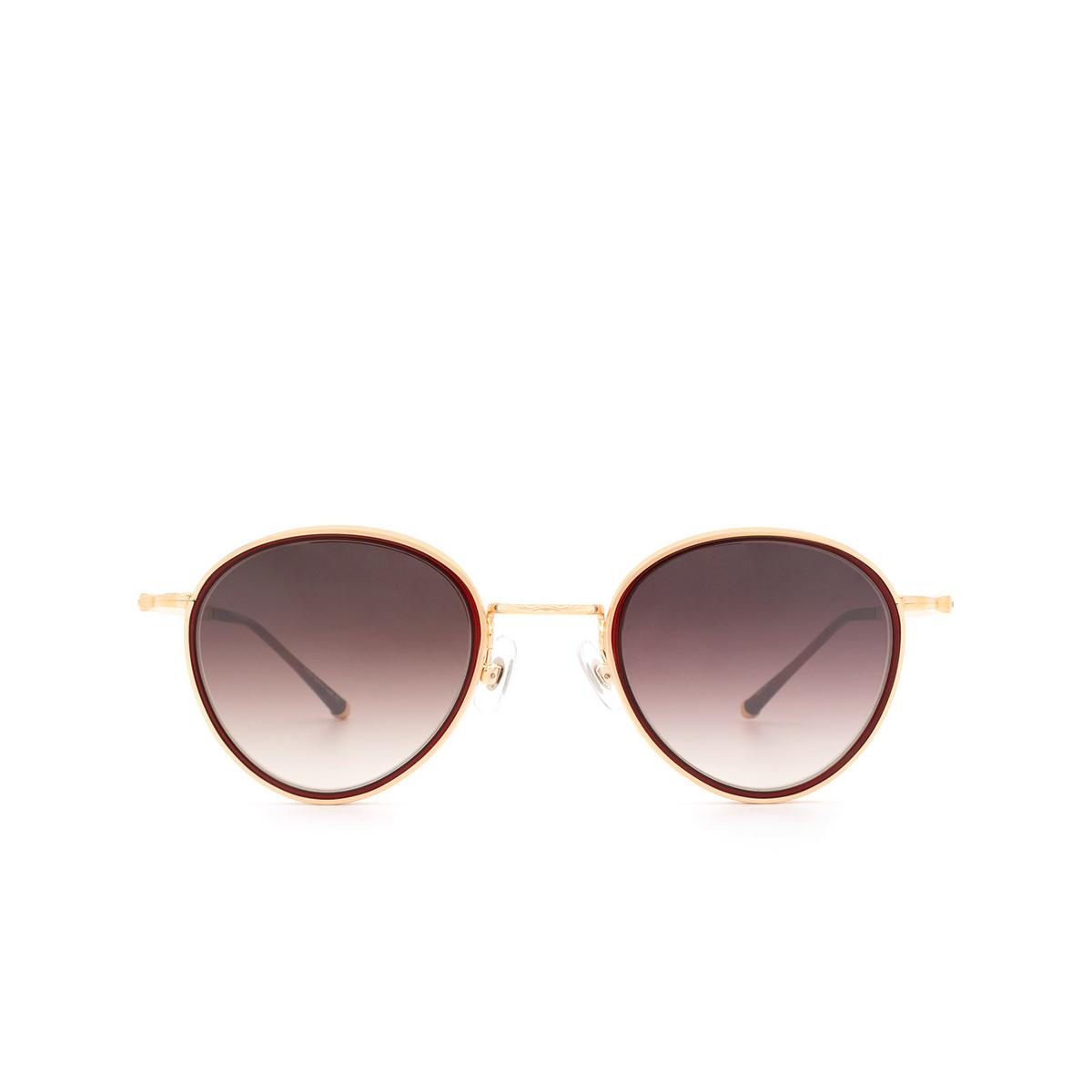 Matsuda® Round Sunglasses: M3070 color Bordeaux / Rose Gold Bor-rg.
