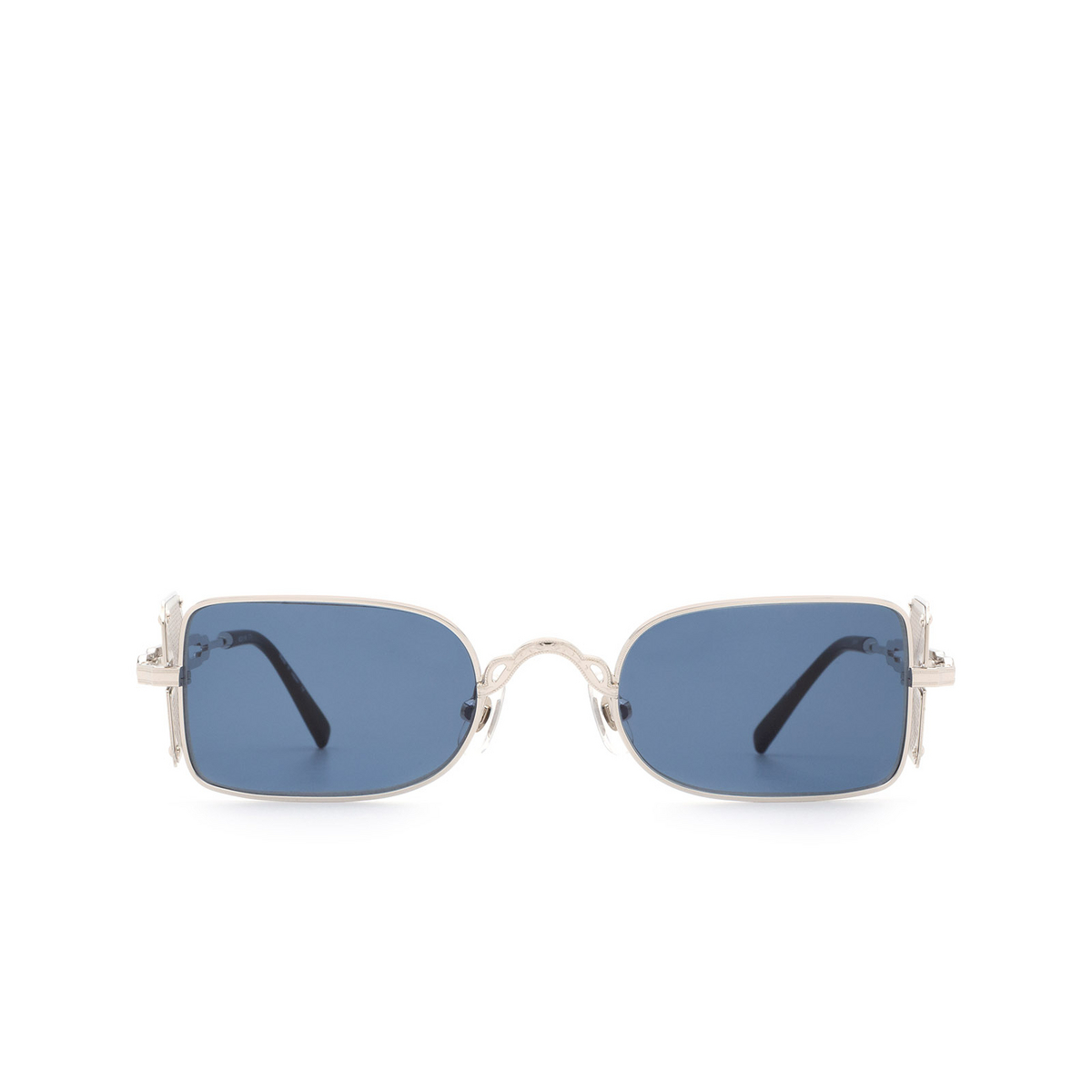 Matsuda® Rectangle Sunglasses: 10611H color Palladium White / Brushed Silver Pw-bs.