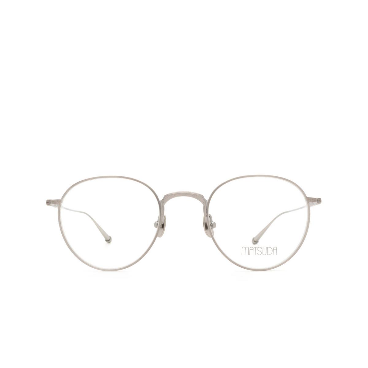 Matsuda® Round Eyeglasses: M3085 color Antique Silver As.