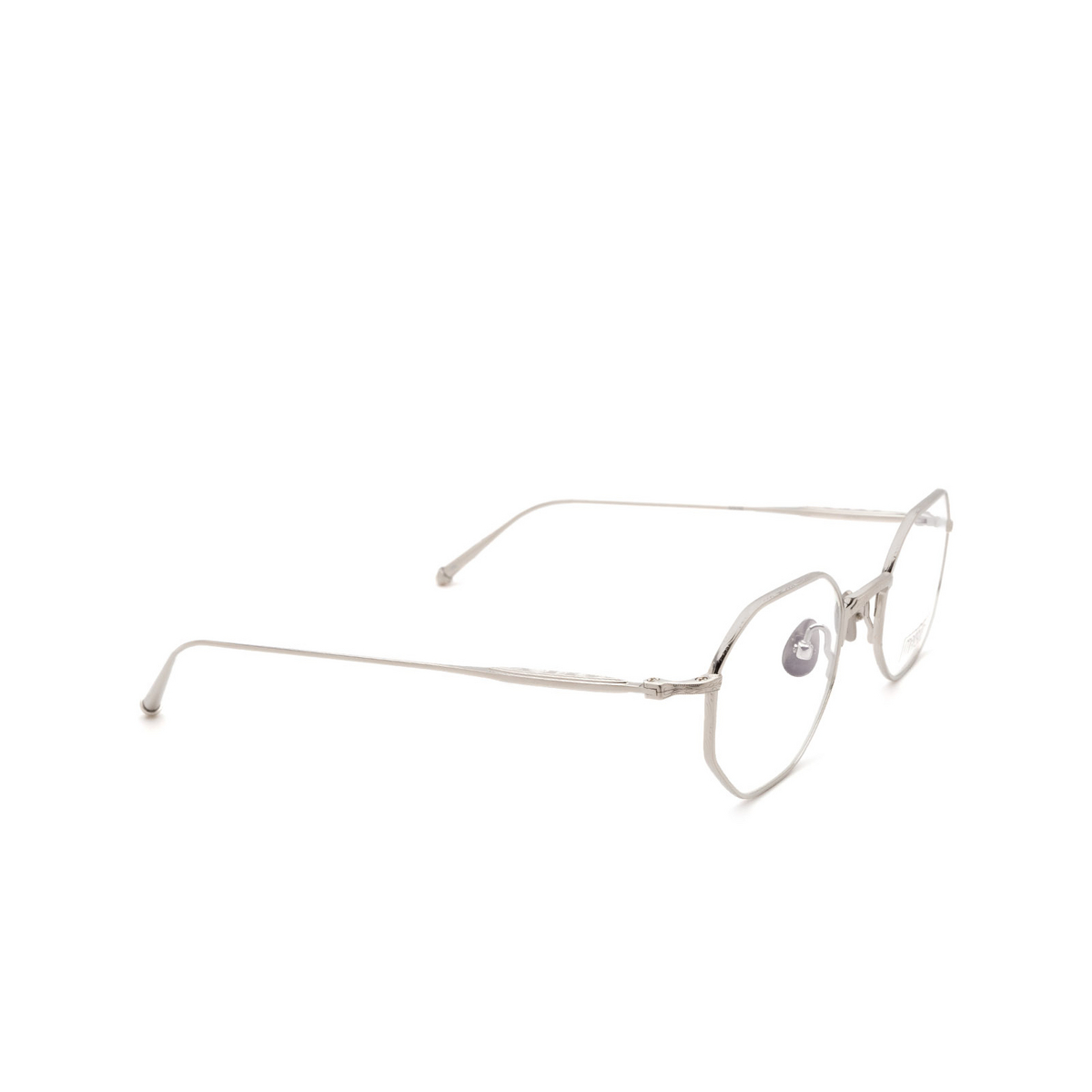 Matsuda® Square Eyeglasses: M3086 OPT color Brushed Silver Bs.