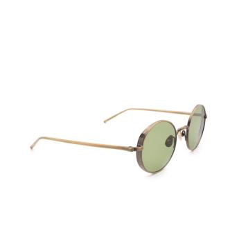 Matsuda® Round Sunglasses: M3087 color Antique Gold Ag.