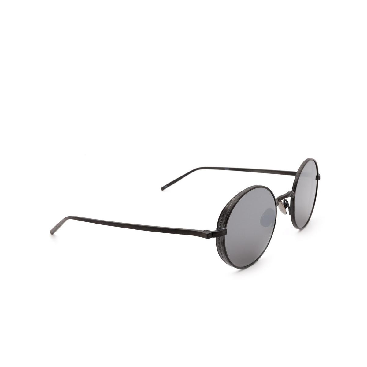 Matsuda® Round Sunglasses: M3087 color Matte Black Mbk.