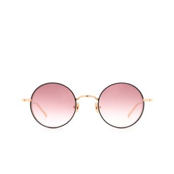 Matsuda® Round Sunglasses: M3087 color Rose Gold / Matte Black Rg-mbk.