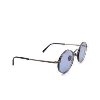 Matsuda® Round Sunglasses: M3100 color Antique Silver / Navy As-nvy.