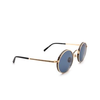 Matsuda® Round Sunglasses: M3100 color Brushed Gold / Matte Black Bg-mbk.