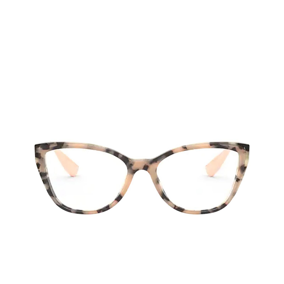 Miu Miu® Butterfly Eyeglasses: Core Collection MU 04SV color Havana Pink On Top 07D1O1 - front view.